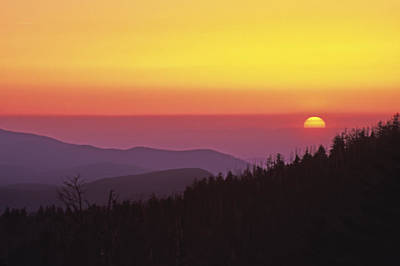 Photograph - Clingman's Dome Sunset 01 by Jim Dollar