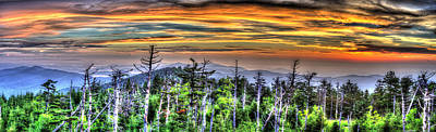 Thomas Kinkade - Clingmans Sunset Panoramic by Mark Bowmer