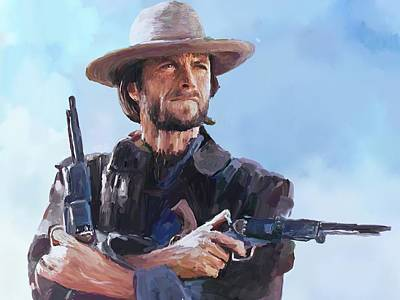 Clint Eastwood Painting - Clint Eastwood 2 by Robert Wheater