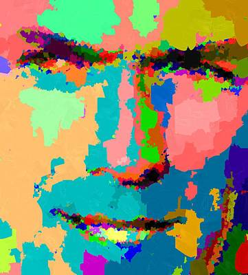 Painting - Clint Eastwood Abstarct 02 by Samuel Majcen