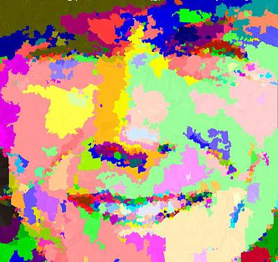 Painting - Clint Eastwood Abstract 01 by Samuel Majcen