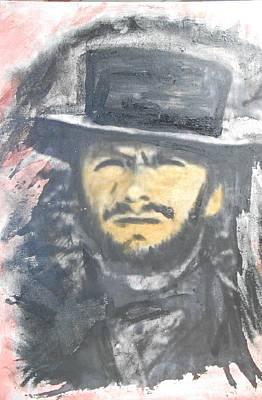 Alfredo Llana Painting - Clint Eastwood by Alfredo Llana