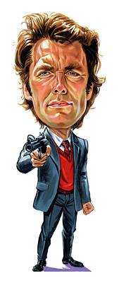 Caricature Painting - Clint Eastwood As Harry Callahan by Art