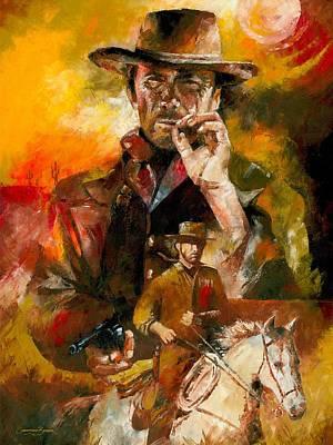 Painting - Clint Eastwood by Christiaan Bekker
