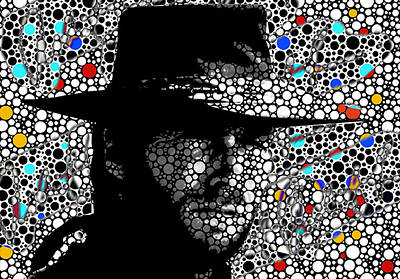 Clint Eastwood Cowboy Art Art Print by Robert R Splashy Art Abstract Paintings