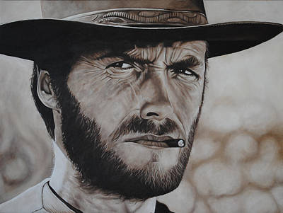 Painting - Clint Eastwood by David Dunne