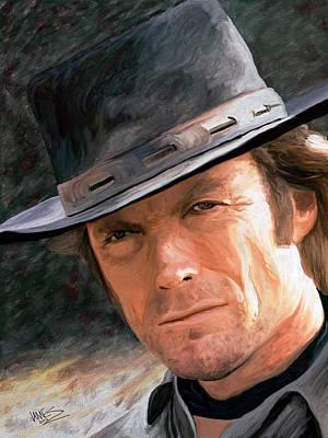Clint Eastwood Art Print by James Shepherd