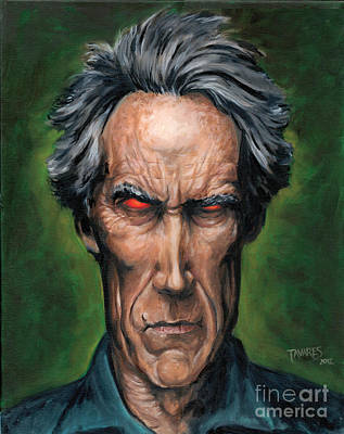 Painting - Clint Eastwood by Mark Tavares