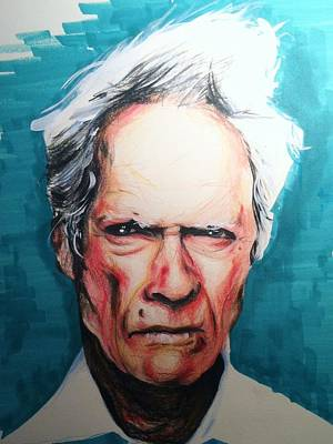 Drawing - Clint Eastwood by Matt Burke