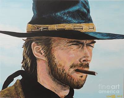 Clint Eastwood Art Print by Paul Wolff