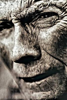 Photograph - Clint Eastwood Portrait by Florian Rodarte