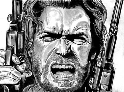 Clint Eastwood Art Print by Ralph Harlow