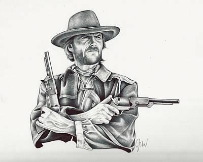 Clint Eastwood Drawing - Clint by Jamie Warkentin