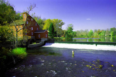 Photograph - The Red Mill - Clinton  New Jersey by Allen Beatty