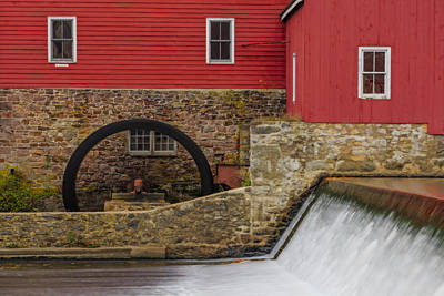 Photograph - Clinton Red Mill by Susan Candelario