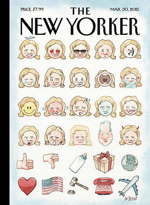 Painting - Clinton's Emoji by Barry Blitt