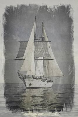 Photograph - Clipper Under Sail by E Karl Braun
