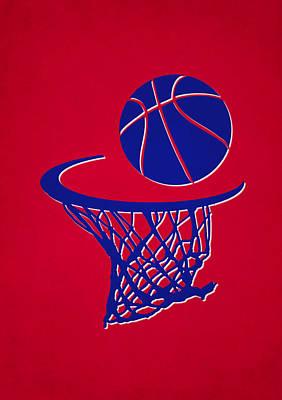 Clippers Team Hoop2 Art Print by Joe Hamilton