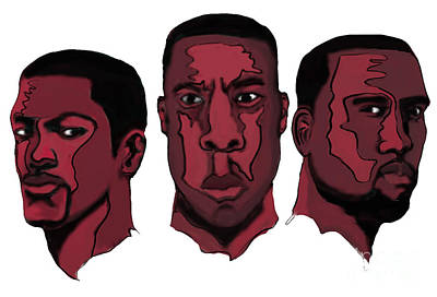 Jay Z Digital Art - Clique by Kevin Kayitare