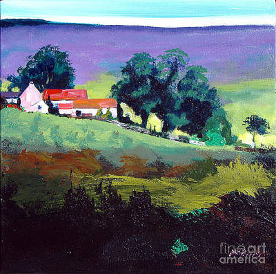 Heather Painting - Clitherbeck In The North York Moors by Neil McBride