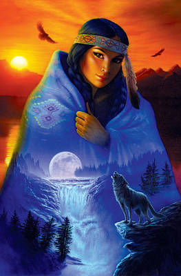 Wolf Photograph - Cloak Of Visions Portrait by Andrew Farley