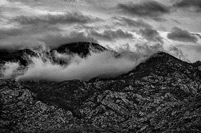 Photograph - Cloaked In Clouds - Oil Paint by Mark Myhaver