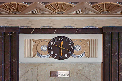 Photograph - Clock - Art Deco - Interior Design by Nikolyn McDonald