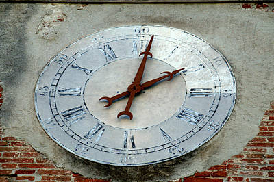 Photograph - Clock In Pisa by Caroline Stella