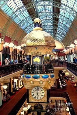 Photograph - Clock In Sydney Mall by John Potts