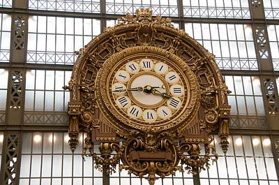 Concourse Photograph - Clock In The Musee D'orsay. Paris. France by Bernard Jaubert