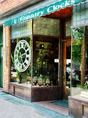 Businesses Photograph - Clock Shop by Susan Savad