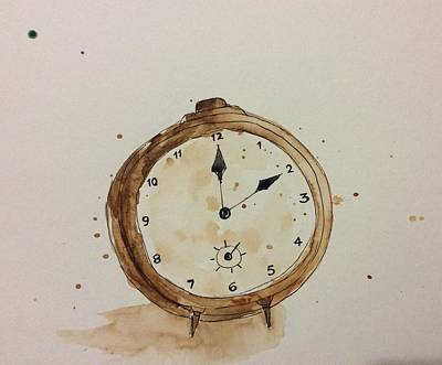 Painting - Clock by Suvitha Ramaswamy