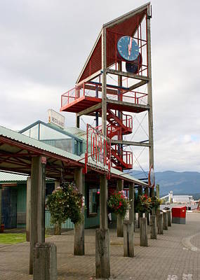 Photograph - Clock Tower Alberni Harbour by Betty-Anne McDonald