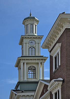 Architectural Detail Photograph - Clock Tower At Camden Station by Susan Candelario