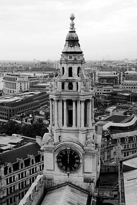 Photograph - Clock Tower At St. Paul's In London by Daniel Woodrum