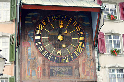 Clock Tower In Solothurn Art Print by Felicia Tica