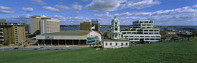 Halifax Photograph - Clock Tower In A City, Halifax, Nova by Panoramic Images