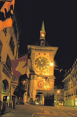 Emc2 Photograph - Clock Tower In Bern by Carl Purcell