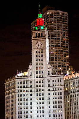 Photograph - Clock Tower In Chicago  by John McGraw