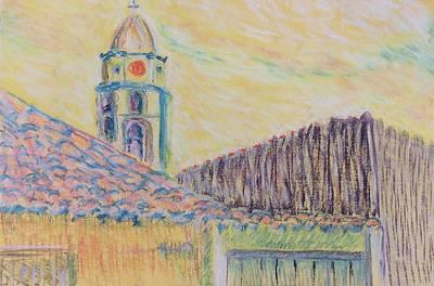 Clock Tower In Havana Cuba Art Print