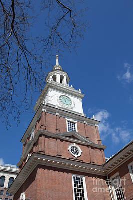 Clock Tower Independence Hall Art Print by Kay Pickens