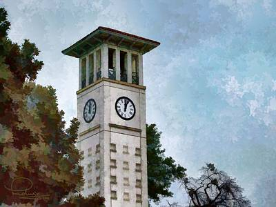 Photograph - Clock Tower by Ludwig Keck