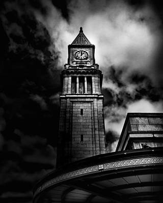 Photograph - Clock Tower No 10 Scrivener Square Toronto Canada by Brian Carson