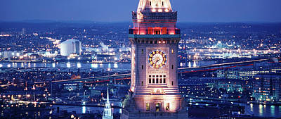 Boston Panoramic Photograph - Clock Tower Of The Custom House by Panoramic Images