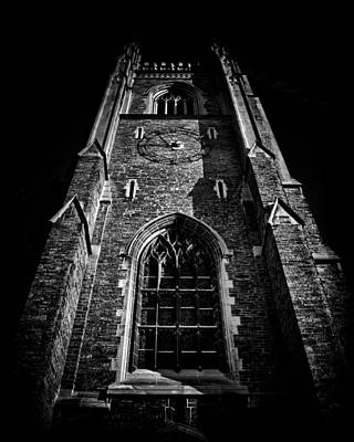 Photograph - Clock Tower Soldiers Tower University Of Toronto Campus by Brian Carson