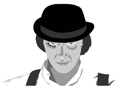 Clock Work Orange Malcolm Mcdowell Art Print by Paul Dunkel