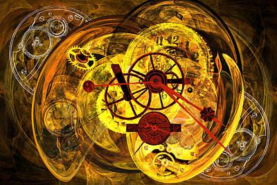 Pendulum Digital Art - Clocks by Lisa Yount
