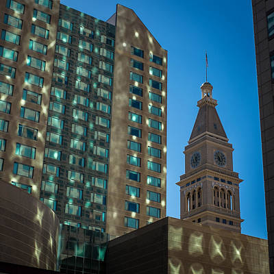 Photograph - Clocktower Denver Colorado by Ron White