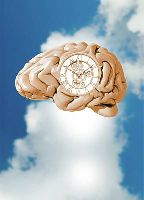 Aging Photograph - Clockwork Brain by Victor Habbick Visions