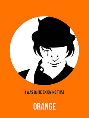 Orange Digital Art - Clockwork Orange Poster 2 by Naxart Studio